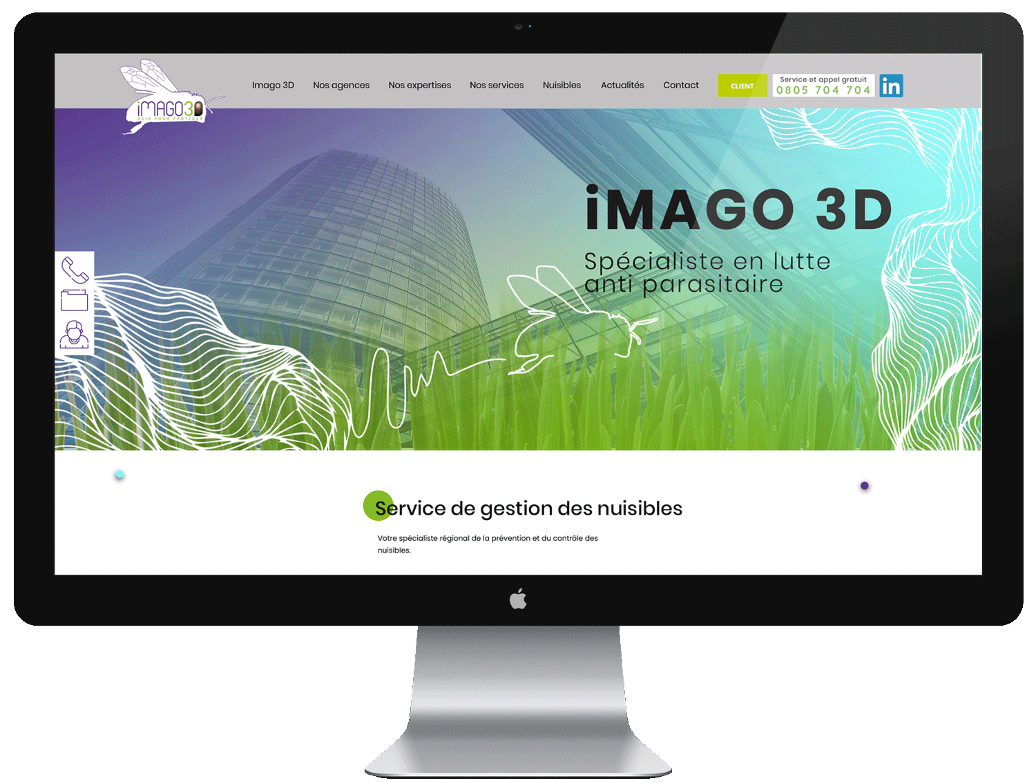 création site internet iMAGO3D - MBD Open Marketing