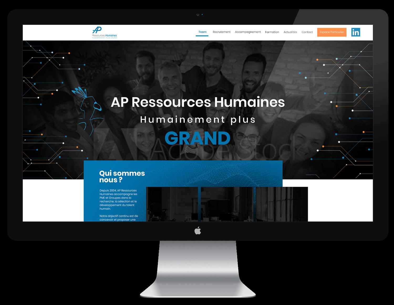 Création de site vitrine AP Ressources Humaines - MBD Open Marketing