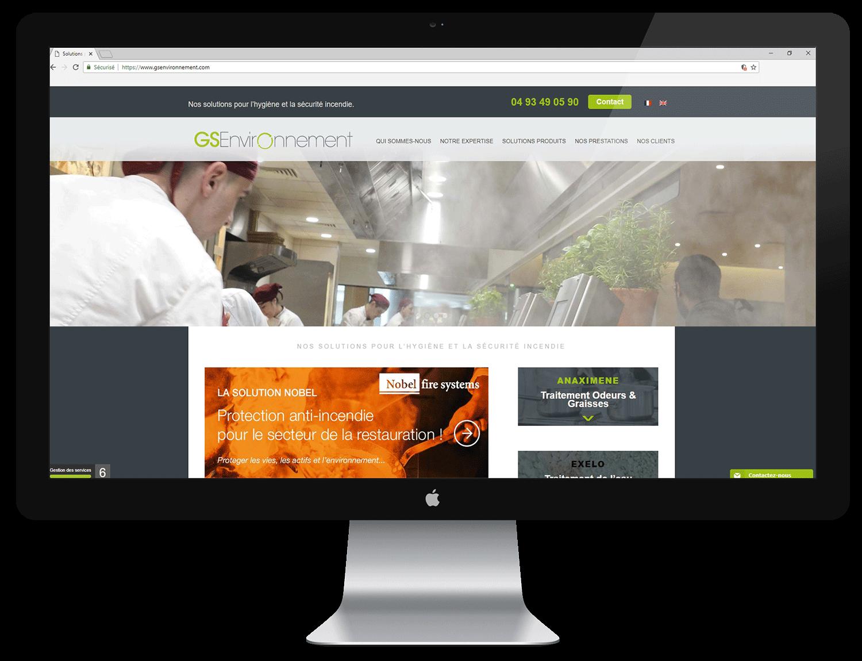 Création de site vitrine GS environnement - MBD Open Marketing