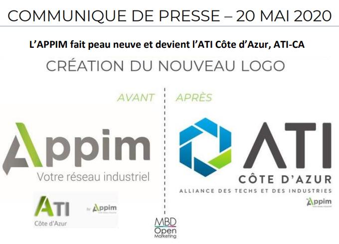 20 mai 2020 - Communiqué de presse - L'ATI-CA se dote d'une nouvelle identité visuelle