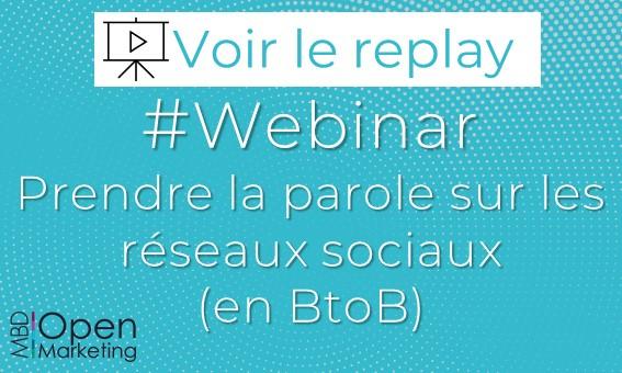 WEBINAR RÉSEAUX SOCIAUX >> MARDI 30 JUIN À 11H30